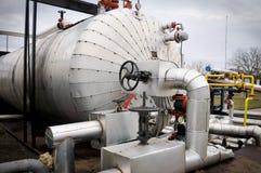 Indústrias da refinação e do gás de petróleo, Imagens de Stock Royalty Free