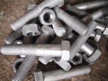 Indústrias de aço do parafuso da porca de parafuso foto de stock royalty free