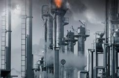 Indústrias do petróleo, do gás e do combustível Imagem de Stock Royalty Free