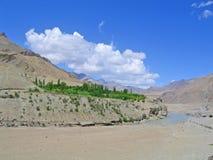 ind ladakh gór rzeki dolina fotografia stock