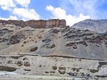ind-ladakhberg River Valley Arkivbild