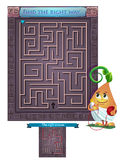 Ind the right way out of the maze. Visual Game for children. Task: find the right way out of the maze Royalty Free Stock Photo