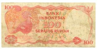ind-rupiah för bill hundra royaltyfria foton