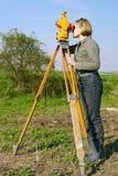 Indagine geodetica Fotografia Stock
