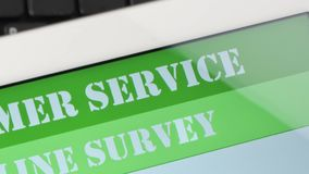 Indagine online di soddisfazione di servizio di assistenza al cliente video d archivio