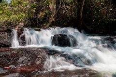 Indaia Waterfall. Also known as Chachoeiro do Indaia in the Heart of the Savannas of Brazil in the State of Goias Royalty Free Stock Photos