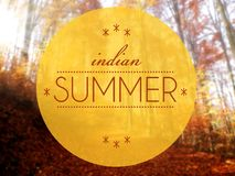 Indain summer Autumn conceptual creative illustration Royalty Free Stock Images