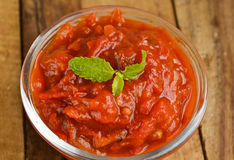Indain tomato Chutney Royalty Free Stock Photo