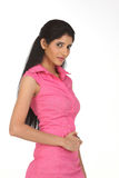 Indain woman in l pink dress Royalty Free Stock Images