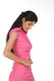 Indain woman in pink dress Royalty Free Stock Image