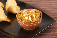 Indan Sweet Halwa made from Moong Dal Stock Photo