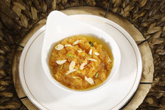 Indan Sweet Halwa made from Moong Dal Stock Images