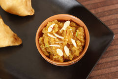 Indan Sweet Halwa made from Moong Dal Royalty Free Stock Image