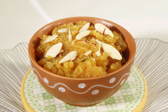 Indan Sweet Halwa made from Moong Dal Royalty Free Stock Images
