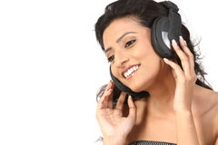 Indan Teenage Girl Enjoying Music Stock Photos