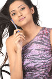 Indan  teenage girl with  pen Royalty Free Stock Images