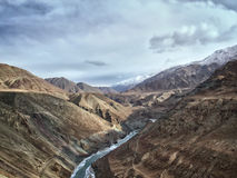 Indas mountain river in the Himalayas Royalty Free Stock Image