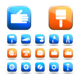 Indastrial vector icon set Royalty Free Stock Photo