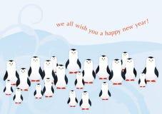 indd pingwiny Fotografia Royalty Free
