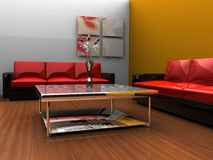 Inddor room modern style Royalty Free Stock Photos