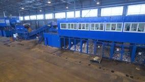 Inddors завода по переработке вторичного сырья Широкоформатный лоток отброса сортируя фабрику акции видеоматериалы