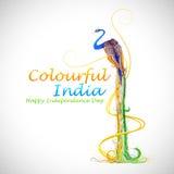 Inde colorée Image libre de droits
