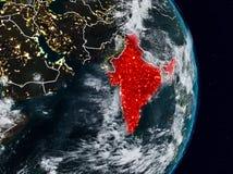 Inde de l'espace la nuit illustration stock