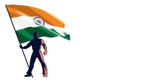 Inde de porteur de drapeau illustration stock
