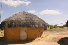 Inde de Raijasthan de hutte de boue Photos libres de droits