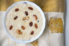 Inde douce du Kerala de plat de Payasam ou de Mithai Image stock