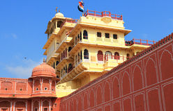 Inde du Ràjasthàn de palais de ville de Jaipur Photos libres de droits