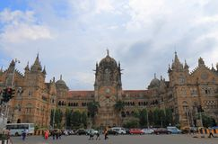 Inde historique de Mumbai d'architecture de station de train de CST de Mumbai photo libre de droits