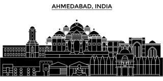 Inde, horizon urbain d'architecture d'Ahmedabad Illustration Libre de Droits