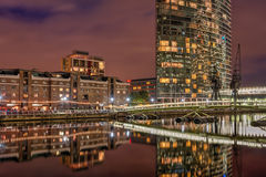 Inde occidentale Quay dans des quartiers des docks de Londres Image stock