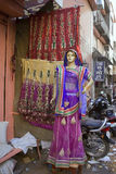 Inde, Ràjasthàn, Jaipur, le 2 mars 2013 : Wom traditionnel indien Photographie stock