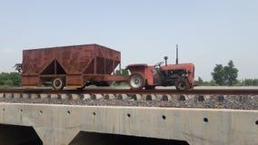 Inde relway de mini train de Jugad image stock