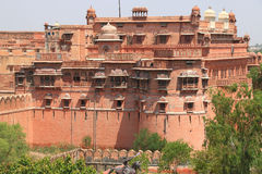 Inde rouge du Ràjasthàn de bikaner de fort Image libre de droits