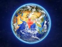 Inde sur terre de l'espace illustration stock