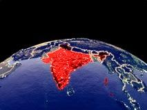 Inde sur terre de l'espace illustration libre de droits