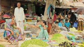 Inde végétale de vendeurs Photo libre de droits