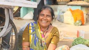 Inde végétale de vendeurs Photos libres de droits