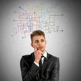 Indecision. Concept of indecision and confusion in business stock photography