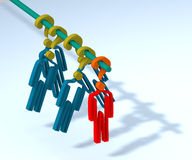 Indecision and uncertainty 2. The person in a condition of indecision and uncertainty. 3D illustration Stock Photo