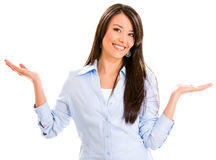 Business woman with arms open Stock Photography
