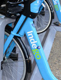 Indego, a Bicycle share program in Philly gives residents and tourists one more transportation option. PHILADELPHIA, PENNSYLVANIA CIRCA SEPTEMBER 2016. Indego, a Stock Photo
