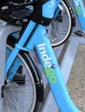 Indego, ein Fahrradanteilprogramm in Philly gibt Bewohner und Touristen eine weitere Transportwahl Stockfoto