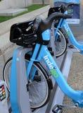 Indego, ein Fahrradanteilprogramm in Philly gibt Bewohner und Touristen eine weitere Transportwahl Stockbild