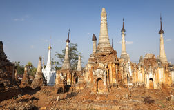 Indein. Old pagodas in Indein, Myanmar, Burma, Southeast Asia stock photography