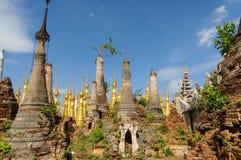 Indein. Old Ruins Indein in Myanmar Stock Photo