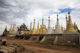Indein Pagodas Myanmar Stock Photos